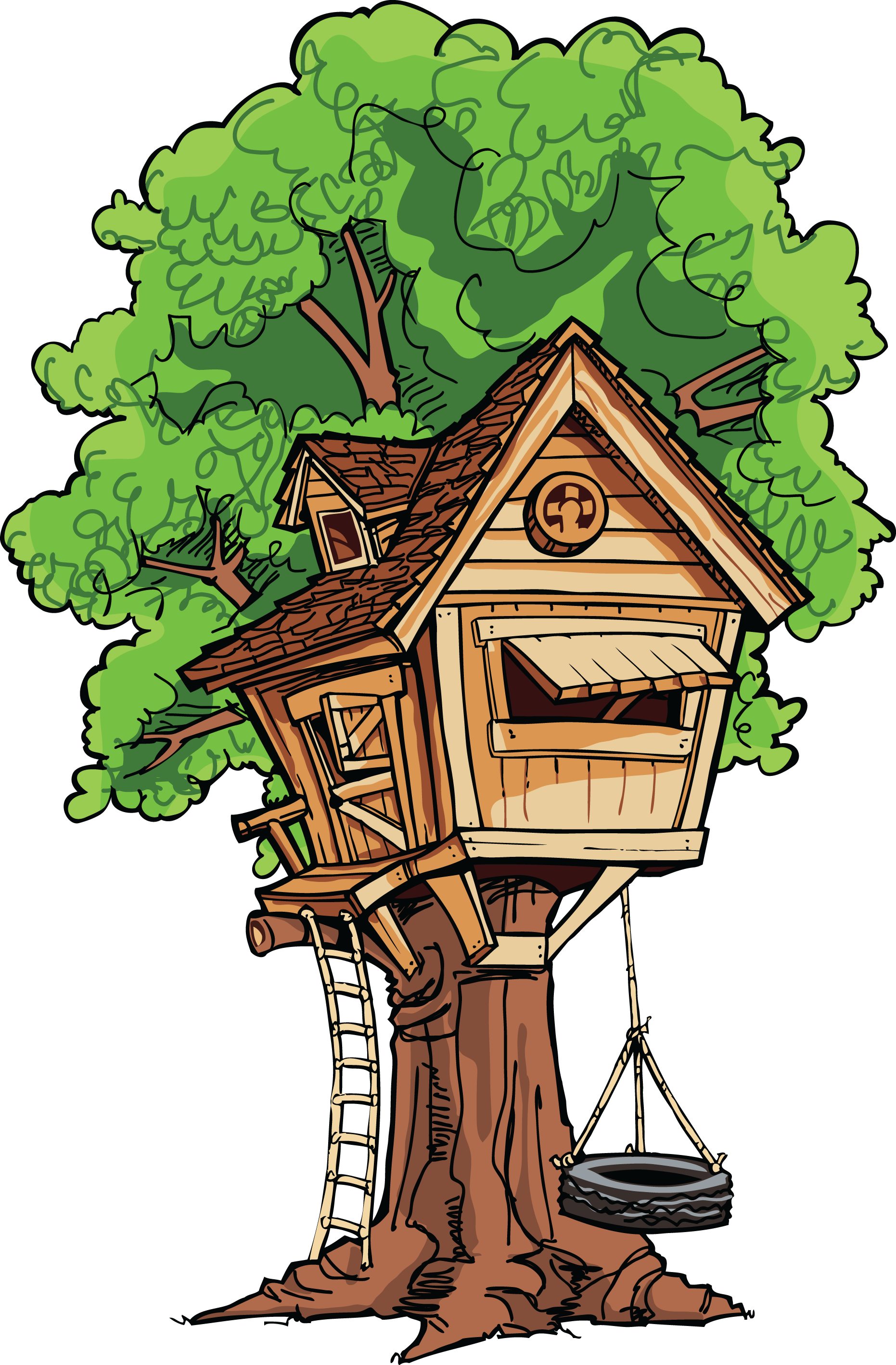 Large Treehouse transparent PNG.