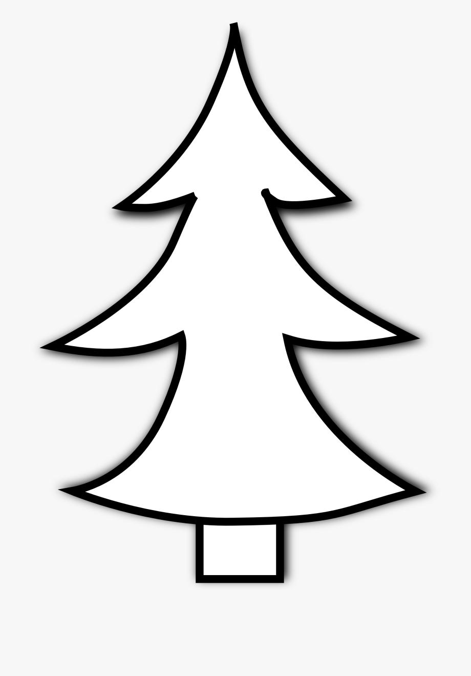 Christmas Tree Black And White Free Black And White.