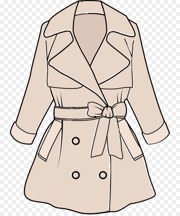 Free Download PNG Clipart Transparent Trench Coat Vector.