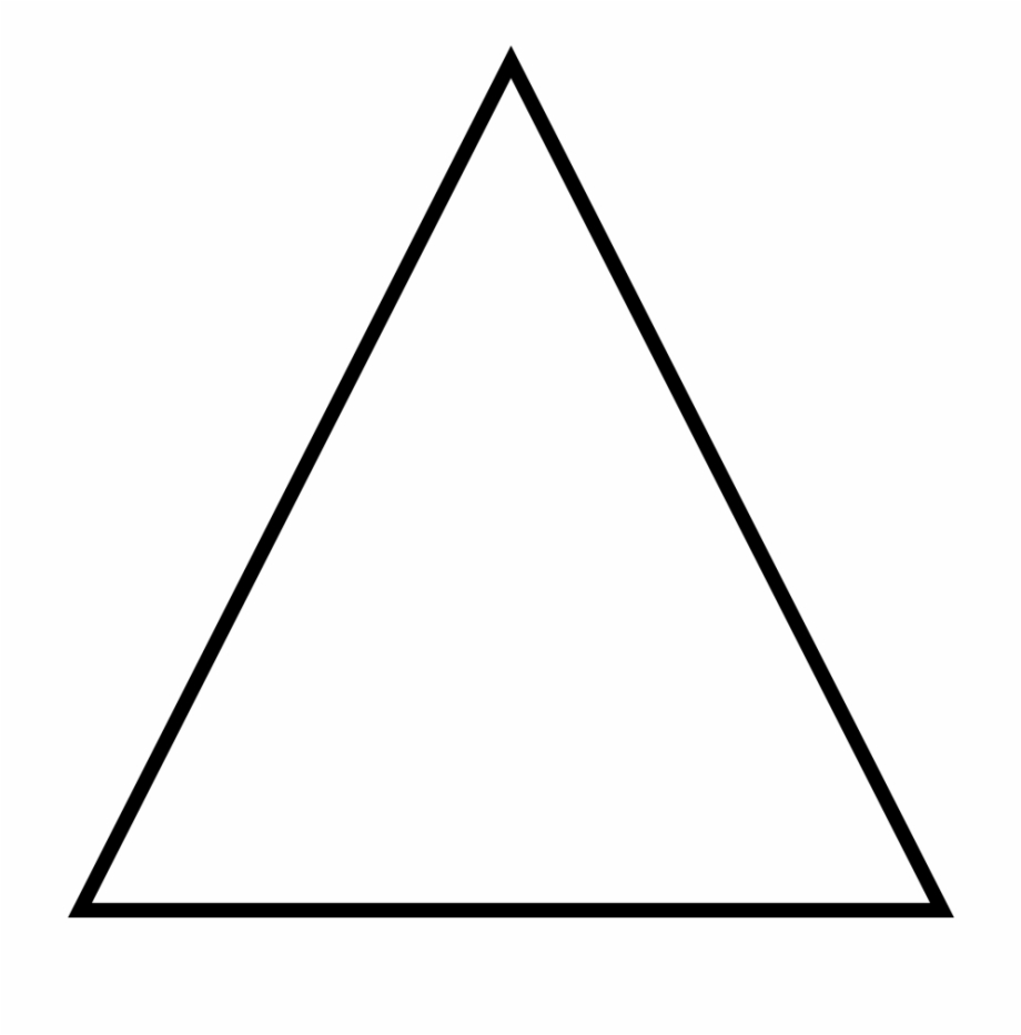 Equilateral Triangle Geometry Shape Clip Art.
