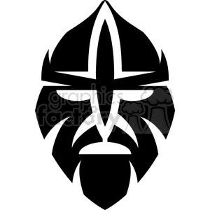 tribal masks vinyl ready art 049 clipart. Royalty.