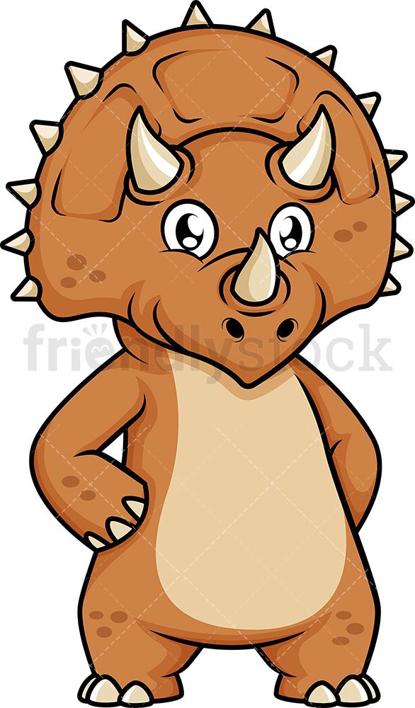 Cute Triceratops Dinosaur.