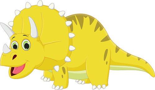 Cute Triceratops Cartoon premium clipart.