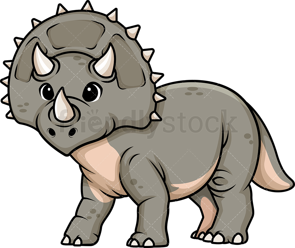 Adorable Triceratops Dinosaur.