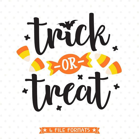 Trick or Treat SVG, Halloween SVG file, Trick or Treat Bag.