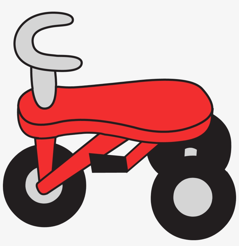 Tricycle Clipart Logo.