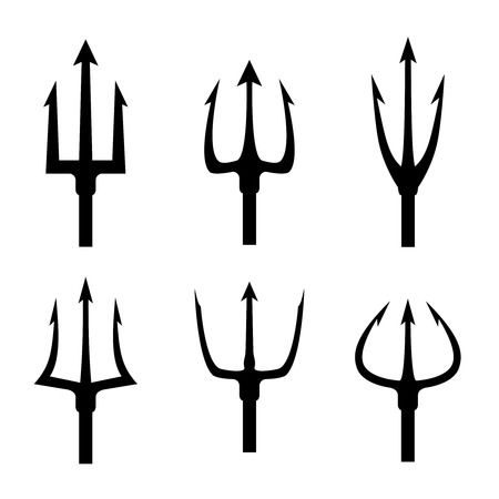 696 Neptune Trident Stock Vector Illustration And Royalty Free.