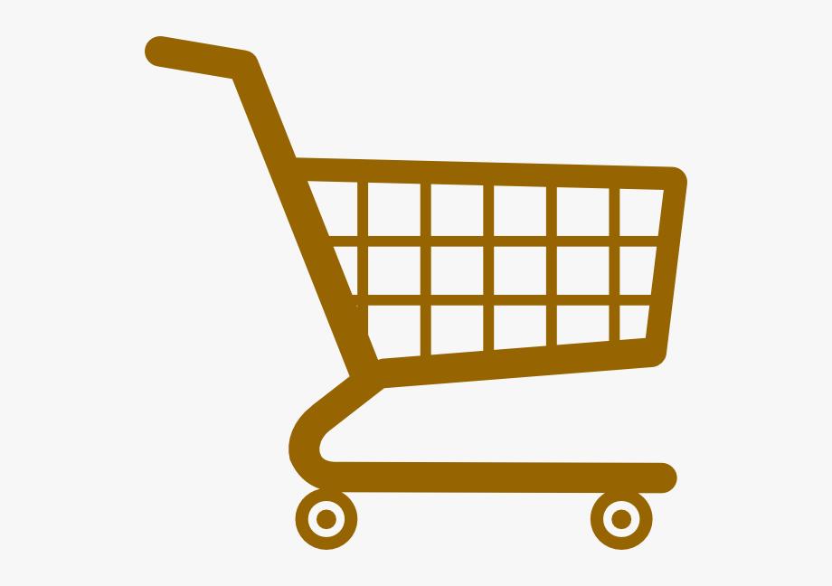 Shopping Cart Market Brown Clip Art At Clker.
