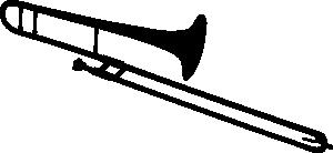 Trombone Silhouette Clip Art.