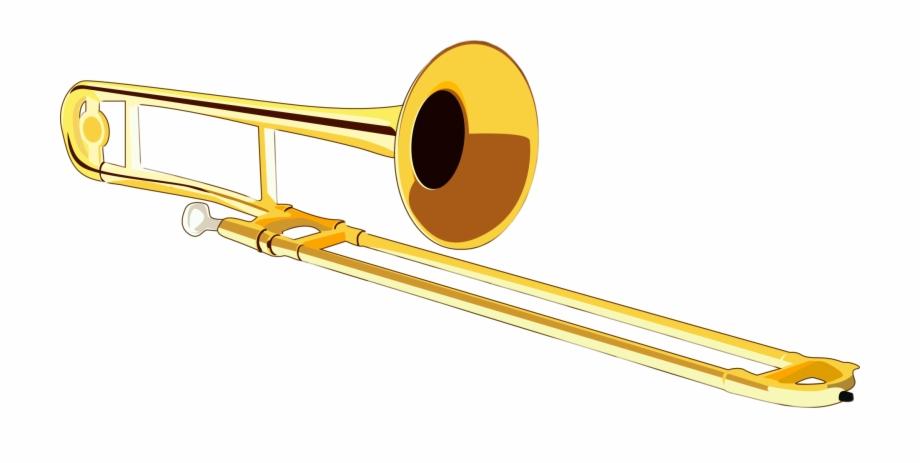 Instruments clipart trombone, Instruments trombone.