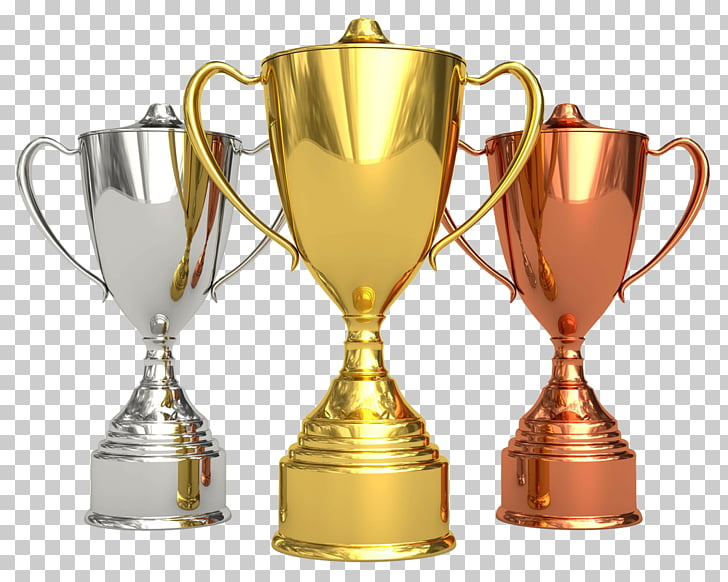 Trophy Award Competition Cup Medal, golden cup PNG clipart.