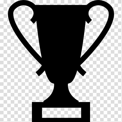Award Silhouette Trophy Medal, award transparent background.