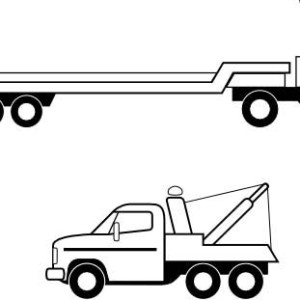 Flatbed Truck Clipart.