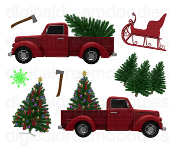 Christmas Tree Truck Clip Art.