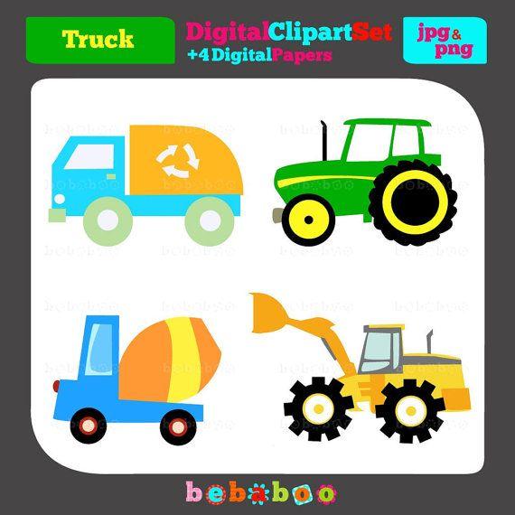 Trucks Clip Art/Digital Clipart/Trucks Clipart/Trucks Clip.