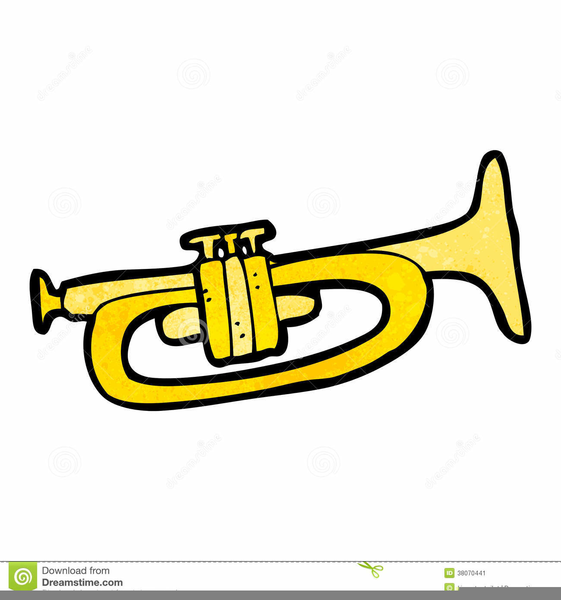 Trumpet Funny Clipart.