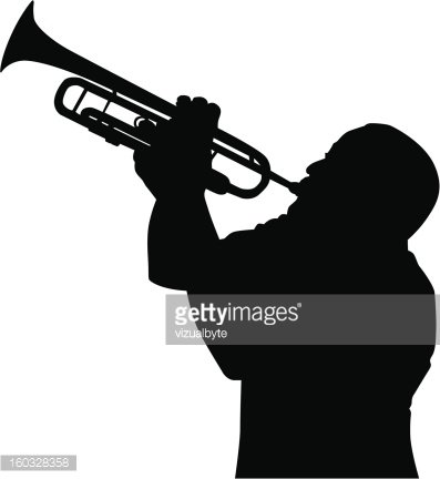 Trumpet Player premium clipart.