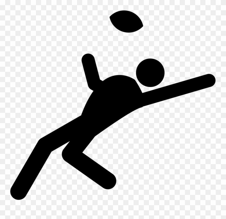 Rugby Player Trying To Catch The Ball Comments Clipart.