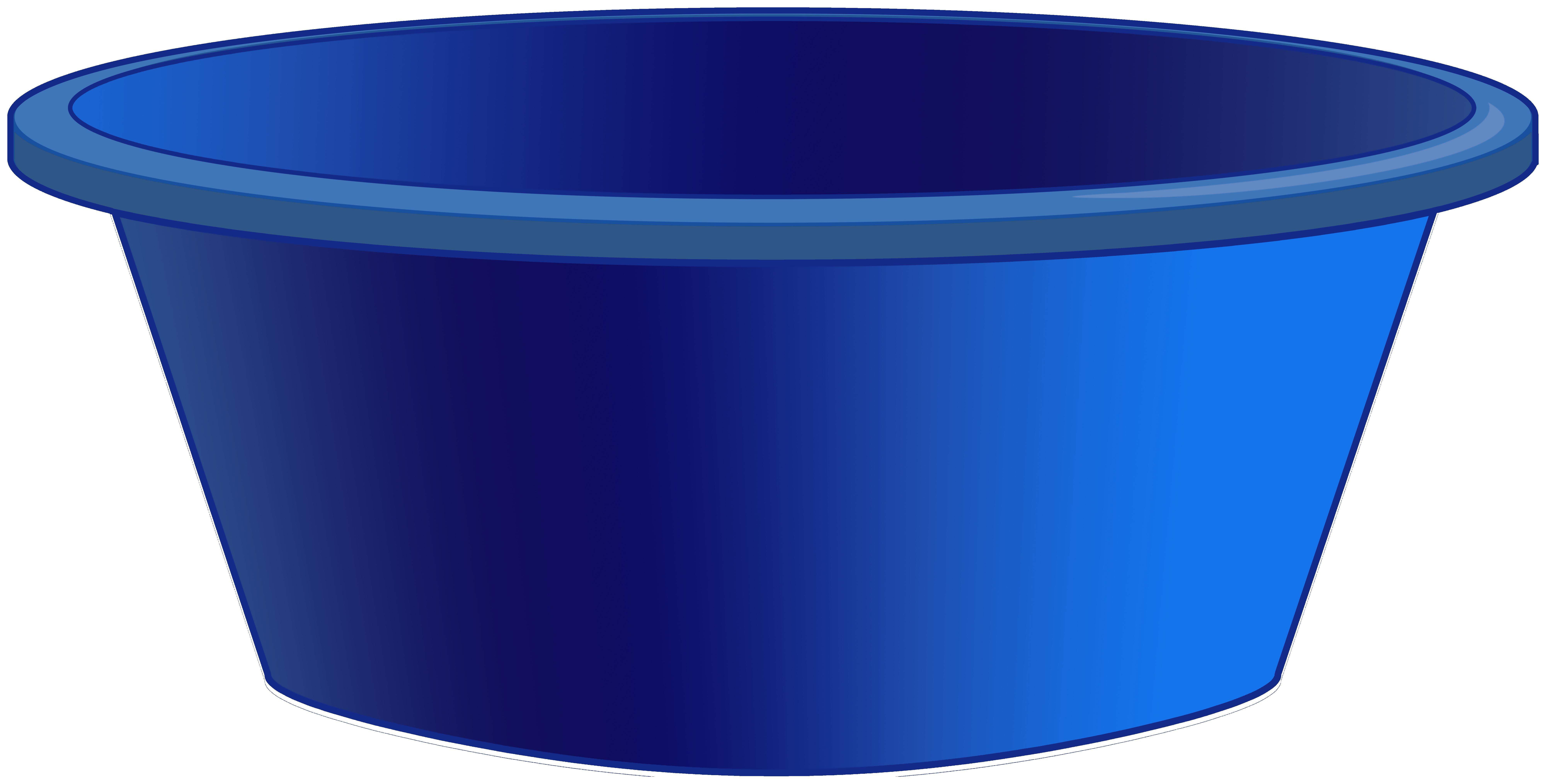 Blue Plastic Tub PNG Clipart.