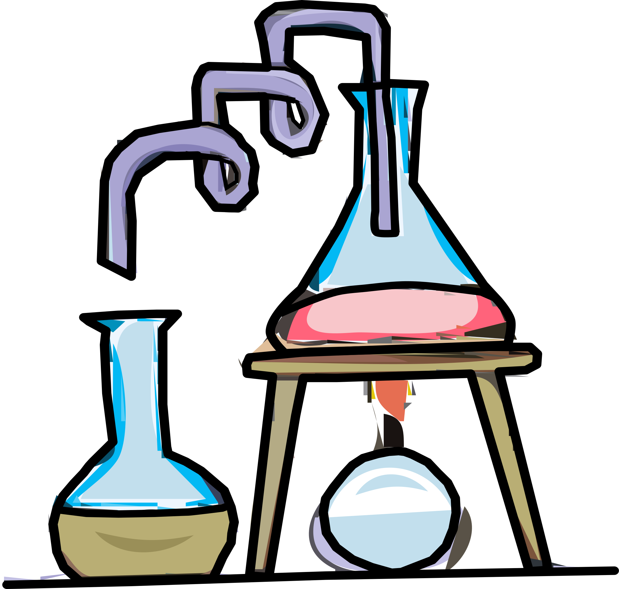 Science Test Tubes Laboratory Clip art.