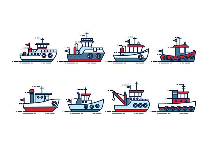 Tugboat Vector.