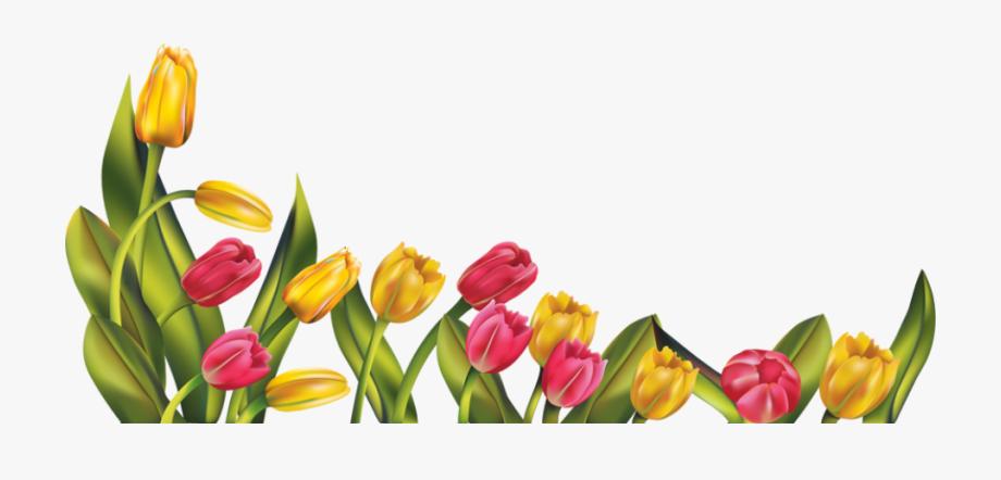 Free Spring Flower Border Clipart.