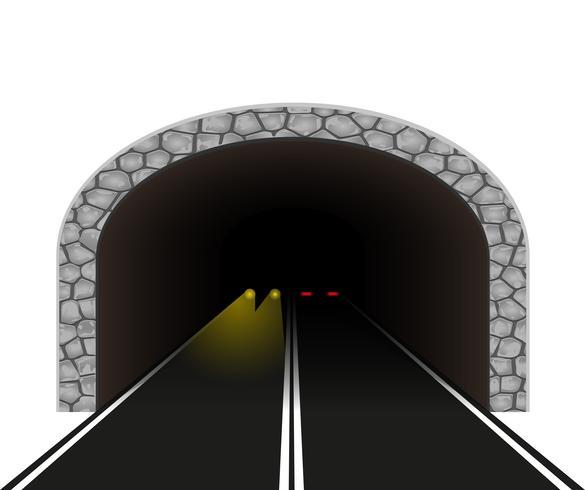 automobile tunnel vector illustration.
