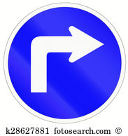 Right hand turn ahead sign Illustrations and Clipart. 21 right.
