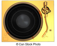 Gold vinyl record isolated on white background Illustrations and.