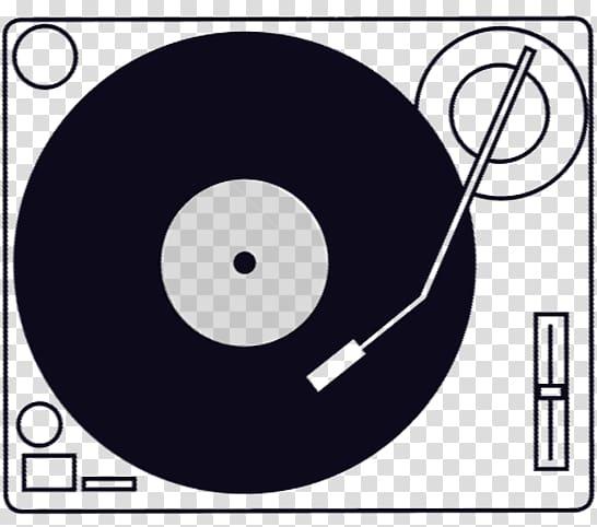 Phonograph record Disc jockey , Turntables transparent.