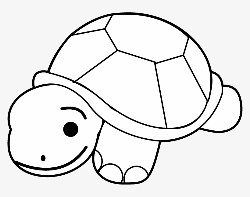 Turtle Clip Art Black And White.