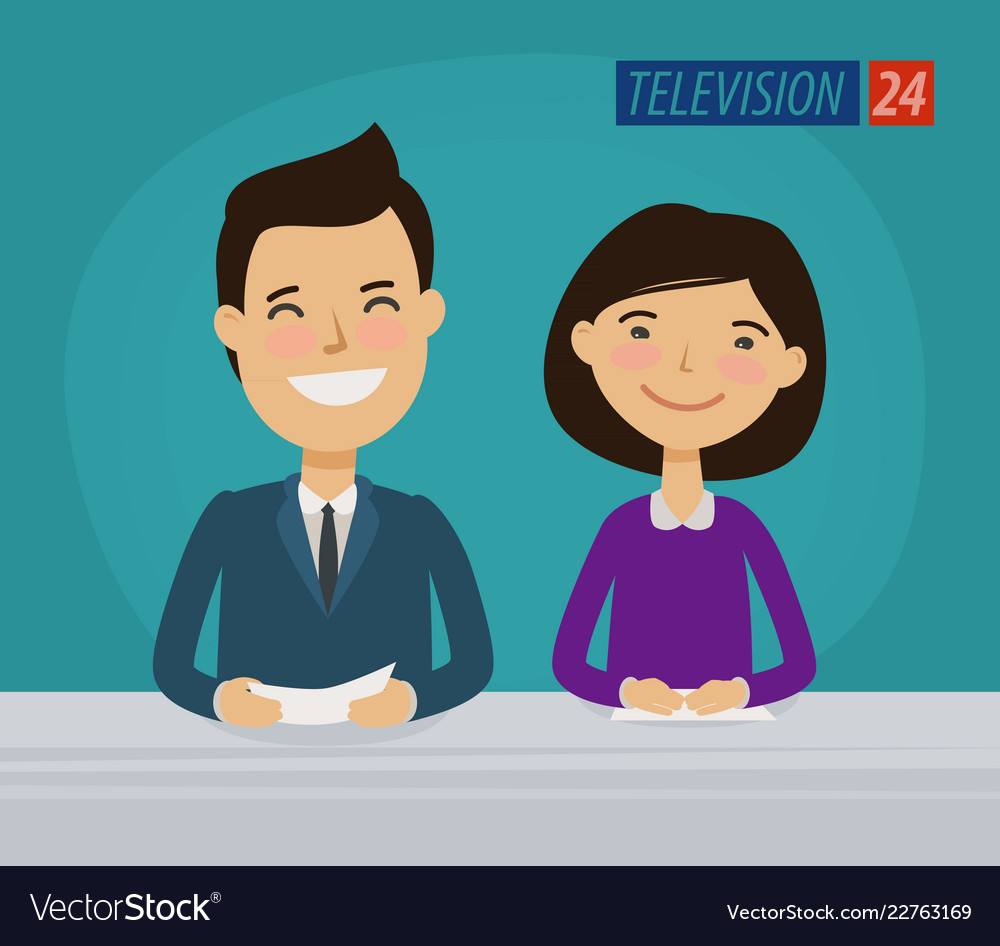 Tv television concept news announcer in the.