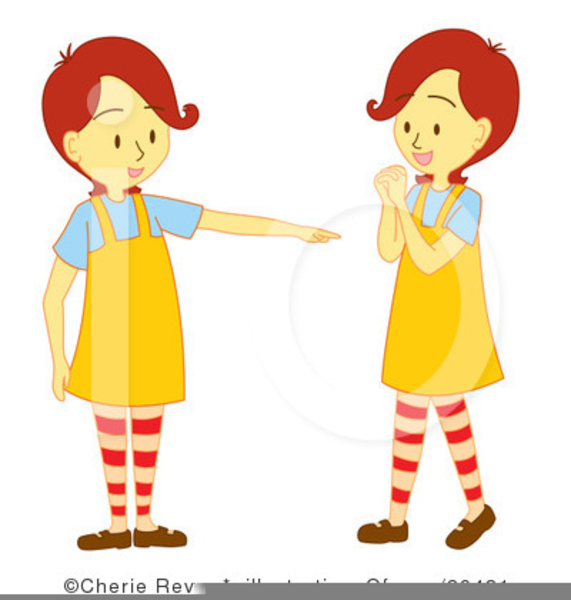 Free Twin Baby Girls Clipart.