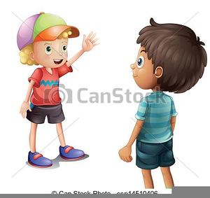 Two Boys Clipart.