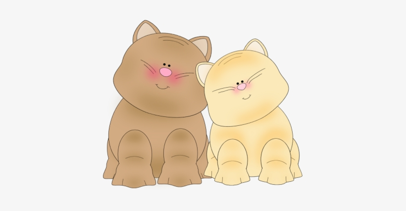 Two Cats Clipart Transparent PNG.