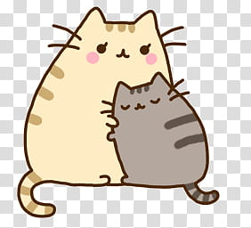 Pusheen the cat, two cats artwork transparent background PNG.