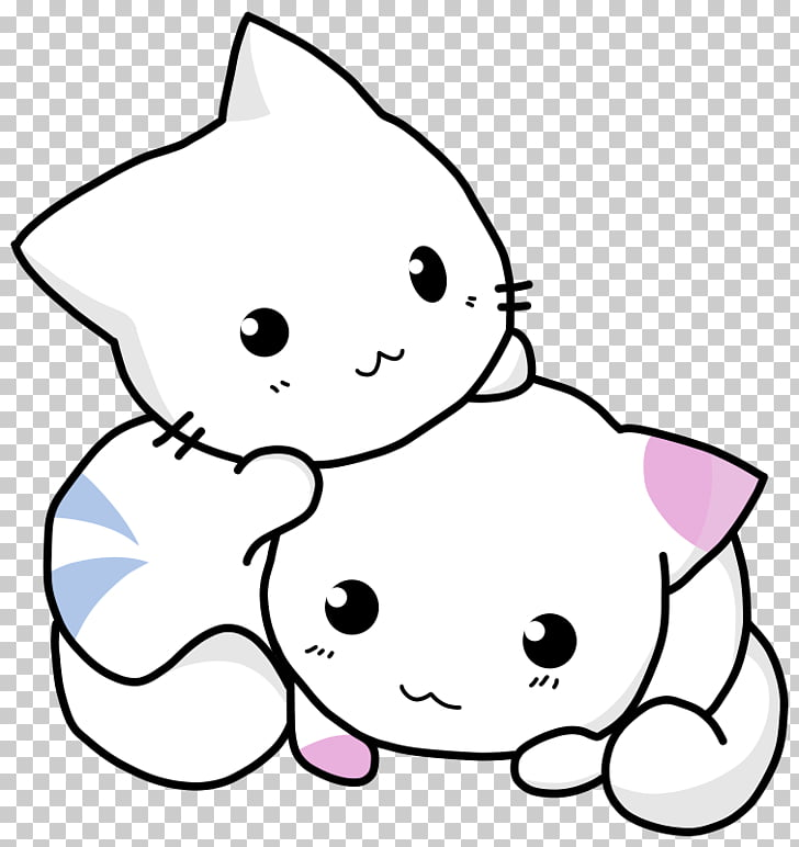 Kitten Cat Giant panda , Two cats PNG clipart.