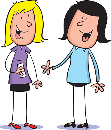 Two Girls Clipart.