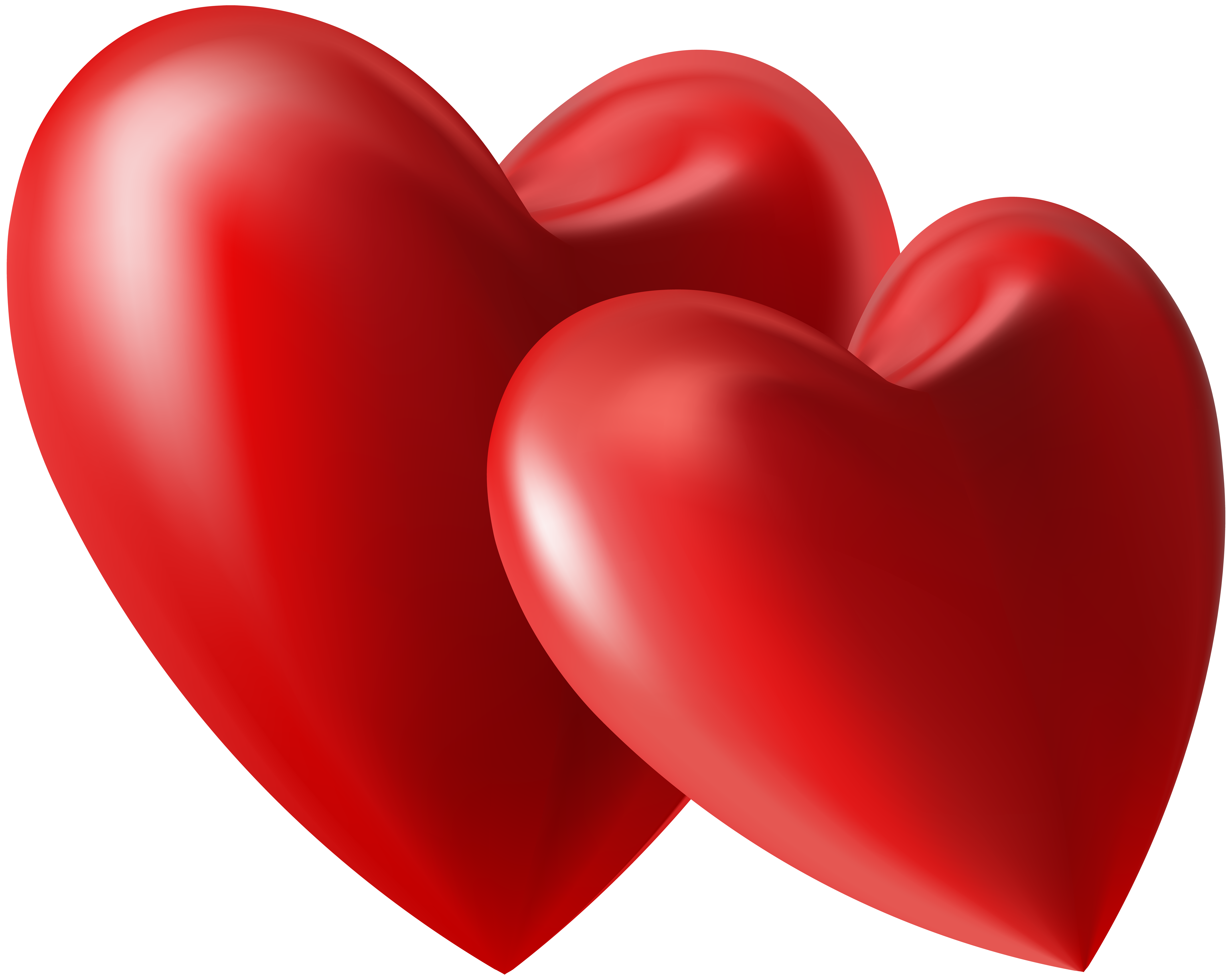 Two Hearts PNG Clip Art Image.