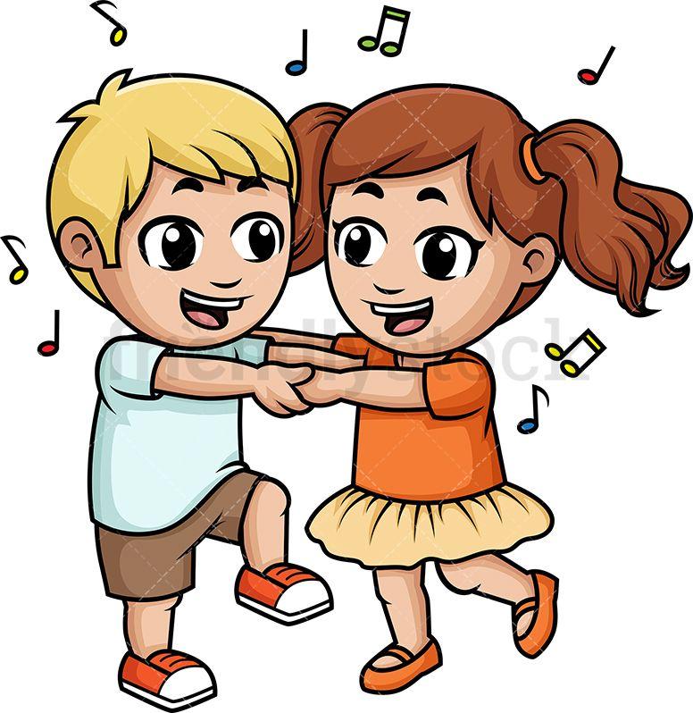 Children Dancing Together.