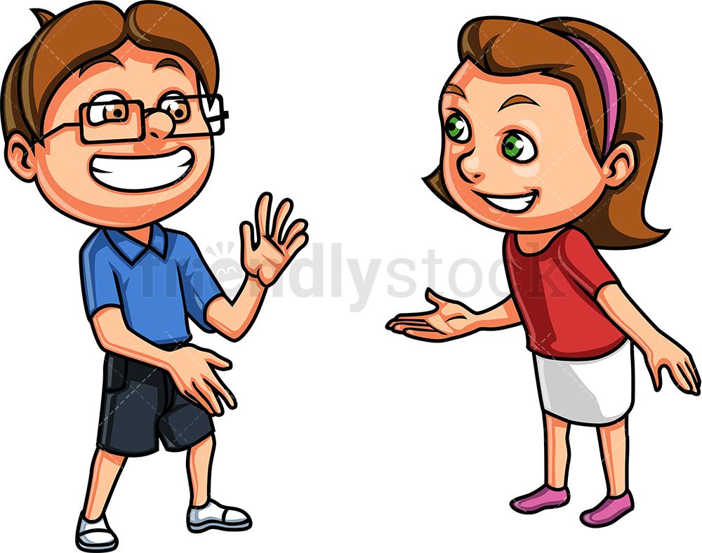 Two Kids Talking.