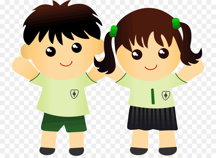 Two Kids PNG Child Clipart download.