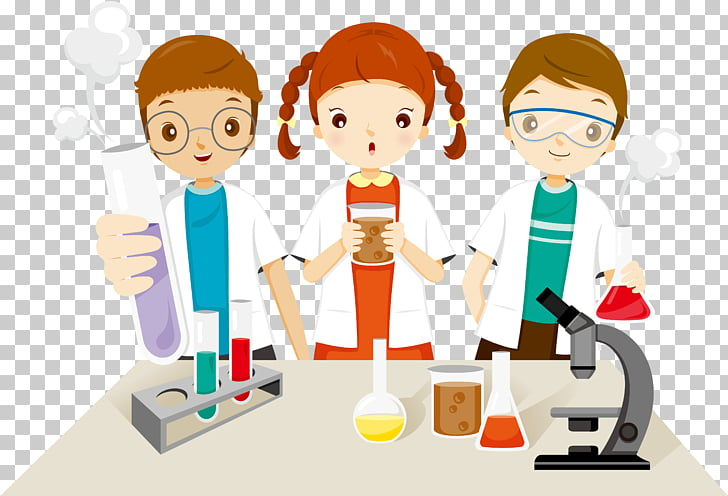 School Education Child Illustration, Children of scientific.