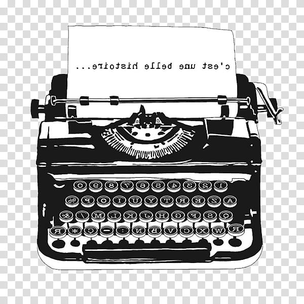 Typewriters, typewriter with paper illustration transparent.