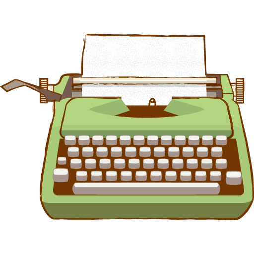 Vintage Typewriter Green Clipart transparent PNG.