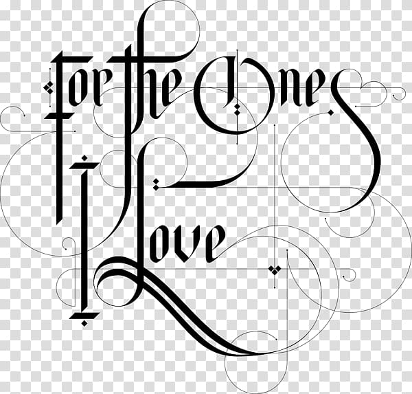 Lettering Typography Love Font, design transparent.