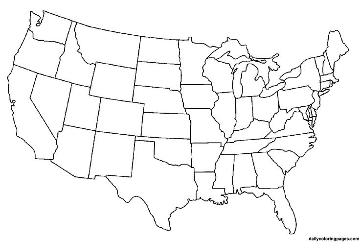 Us map clipart clipart image #28437.