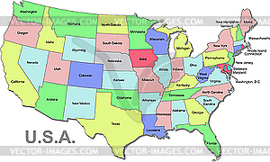 Clipart map of the united states.