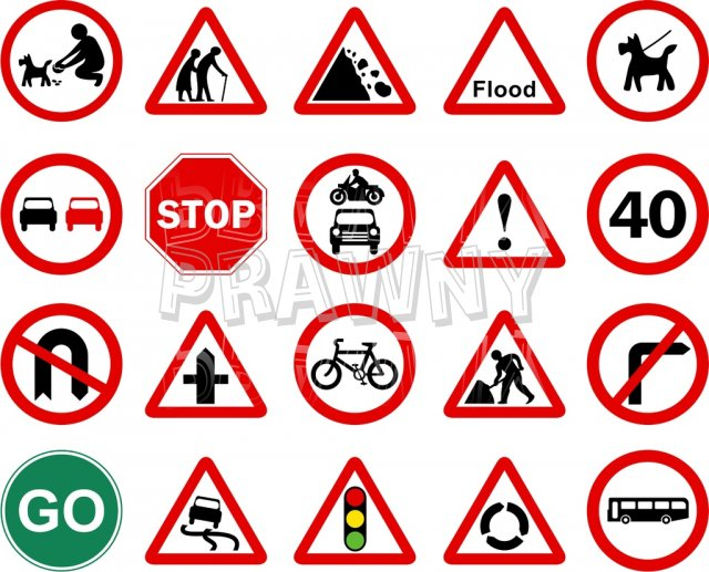 Road Traffic Signs Prawny Clip Art Collection.