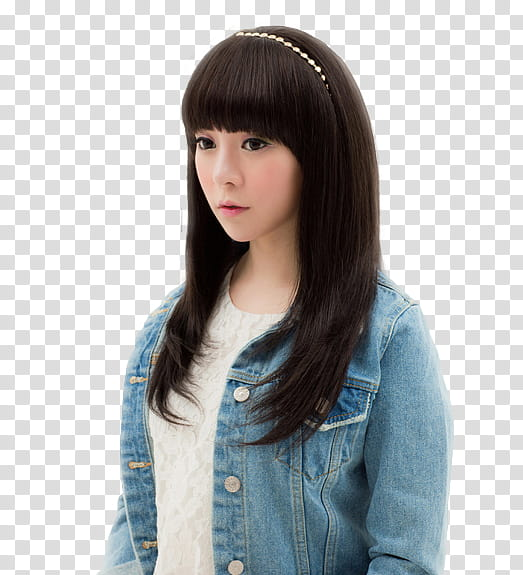 RENDER Ulzzang Girl, woman wearing blue denim jacket.